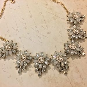 Gold Collar/Statement Necklace with Multi-Stones